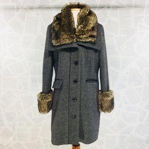 Coldwater Creek Winter Long Coat Faux Fur 10-12